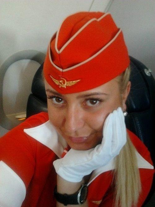Doigt Honneur Aeroflot Hôtesse Virée